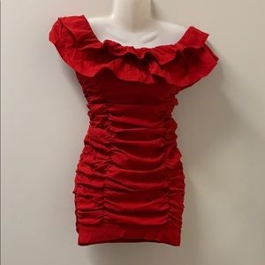NWT CBR form fitted sexy red dress